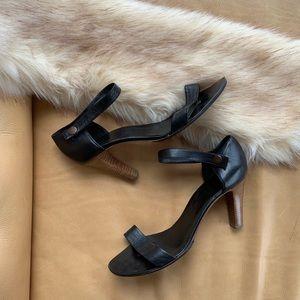 Veronique Branquinho black leather heels SZ 41